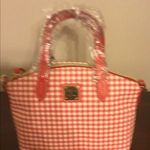 Dooney and Bourke  pink and white gingham bag.